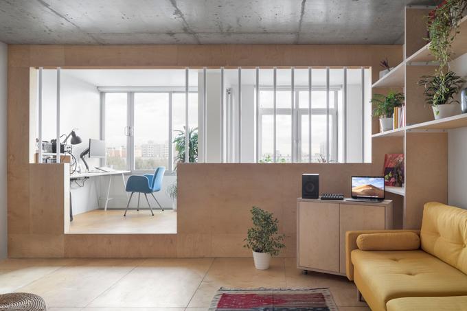 Căn hộ có diện tích 50 m2 tại Matxcơva, Nga được hoàn thiện năm 2019 bởi nhóm kiến trúc sư (KTS) của CXEMA.