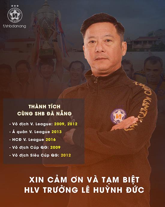 CLB Đà Nẵng tri ân HLV Lê Huỳnh Đức.
