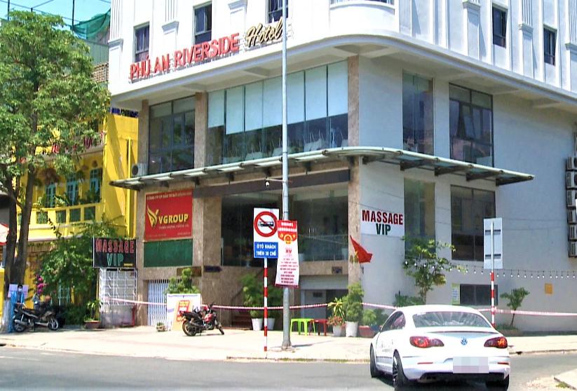 Khách sạn Phú An bị phong tỏa.