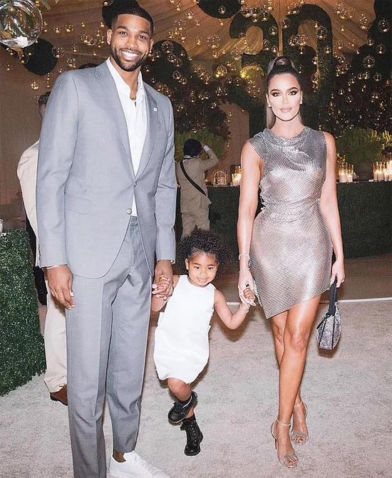 Khloe và Tristan Thompson bên con gái ba tuổi.
