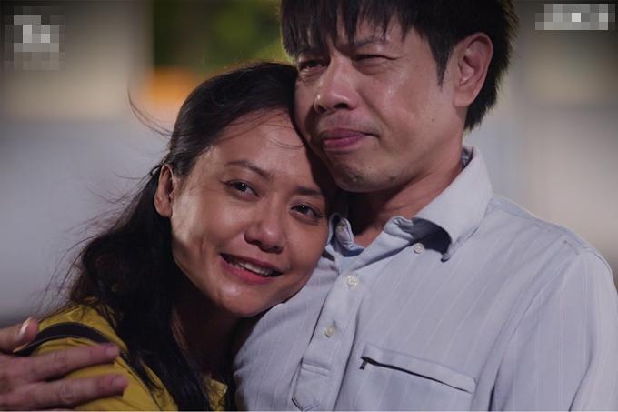 Thái Hòa và Hồng Ánh lần đầu đóng vợ chồng.