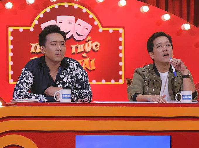 Trấn Thành - Trường Giang ghi dấu ấn khi ngồi ghế giám khảo Thách thức danh hài nhiều năm liền.
