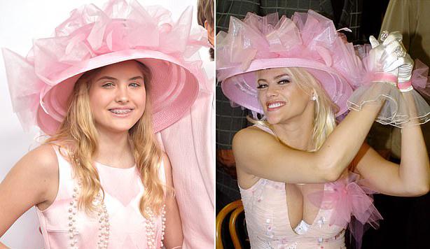 Dannielynn Birkhead (trái) thừa hưởng nhan sắc của mẹ - người mẫu Anna Nicole Smith.