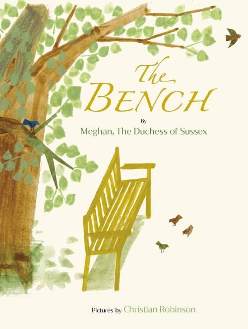 Meghan in tên và tước hiệu hoàng gia trên cuốn sách thiếu nhi The Bench của mình. Ảnh: PA.