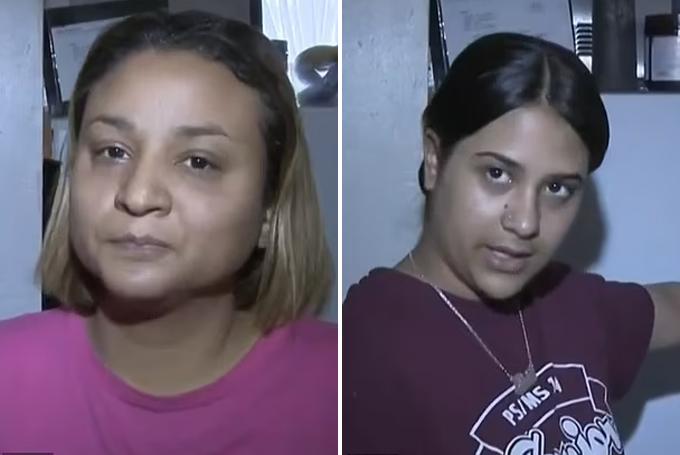 Dì (trái) và chị gái (phải) của bé Jose Garcia. Ảnh: CBS.