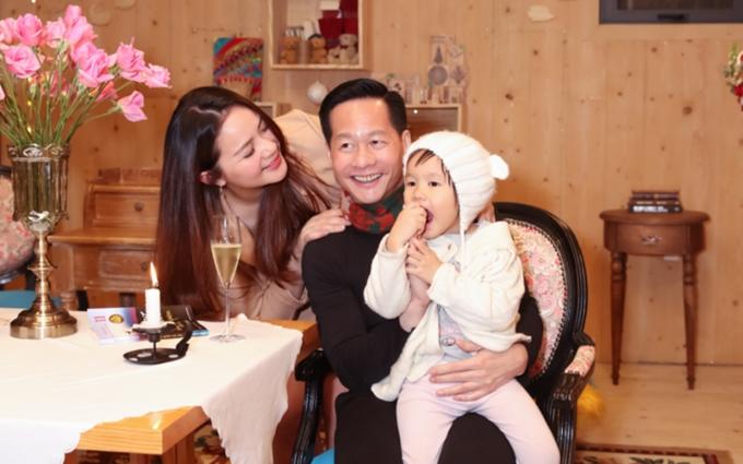 Đại gia Đức An cùng vợ - Phan Như Thảo - và con gái Bồ Câu.