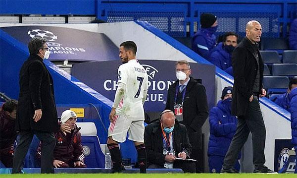 Hazard nhận lương cao ở Real nhưng phong độ không như kỳ vọng. Ảnh: AP.