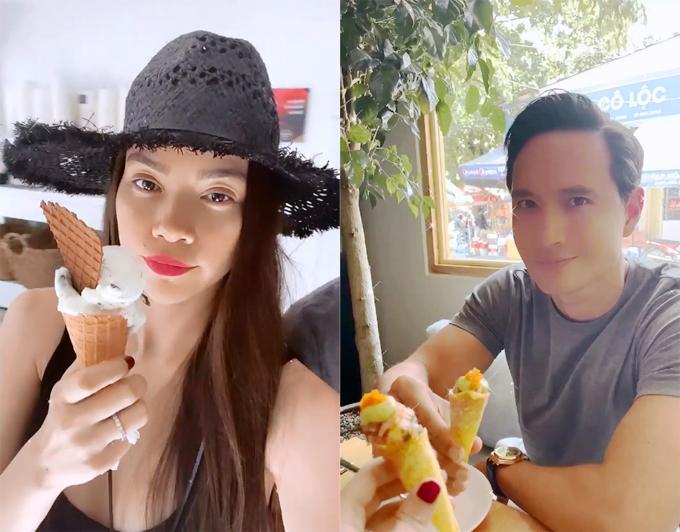 Hà Hồ - Kim Lý hẹn hò ở tiệm kem yêu thích của Hà Tăng