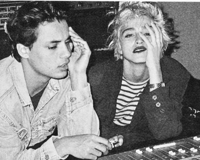 Nick Kamen và Madonna thời trẻ.