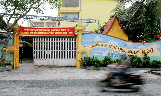 Trường mầm non tư thục Nguyễn Du đóng cửa từ ngày 6/5. Ảnh: Hùng Lê
