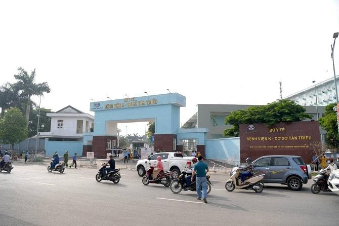 Bệnh viện K thiết lập chốt phong tỏa, dừng tiếp nhận bệnh nhân.