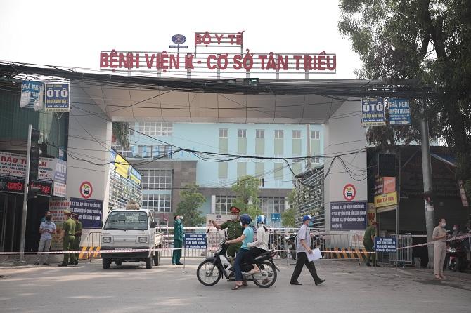 Bệnh viện K cơ sở Tân Triều phong tỏa.