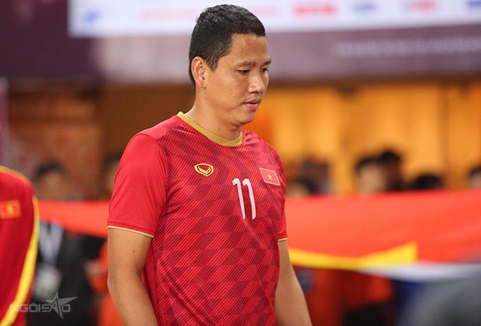 Lần cuối cùng Anh Đức khoác áo tuyển Việt Nam là ở trận gặp Thái Lan tại vòng loại World Cup 2022 hồi tháng 11/2019. Ảnh: Đương Phạm.