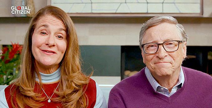 Lần xuất hiện bên nhau cuối cùng với tư cách vợ chồng của Melinda và Bill Gates. Ảnh: Global Citizen.