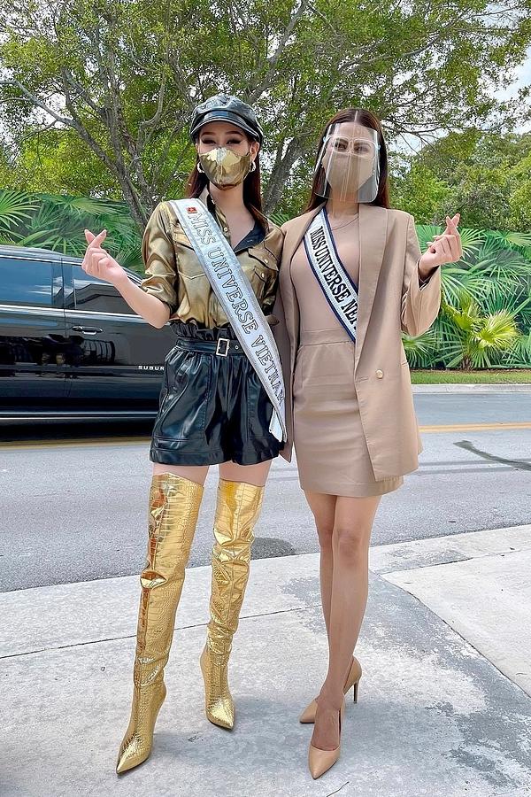 Khánh Vân lên đồ chặt chém đối thủ ngày đầu thi Miss Universe - 2
