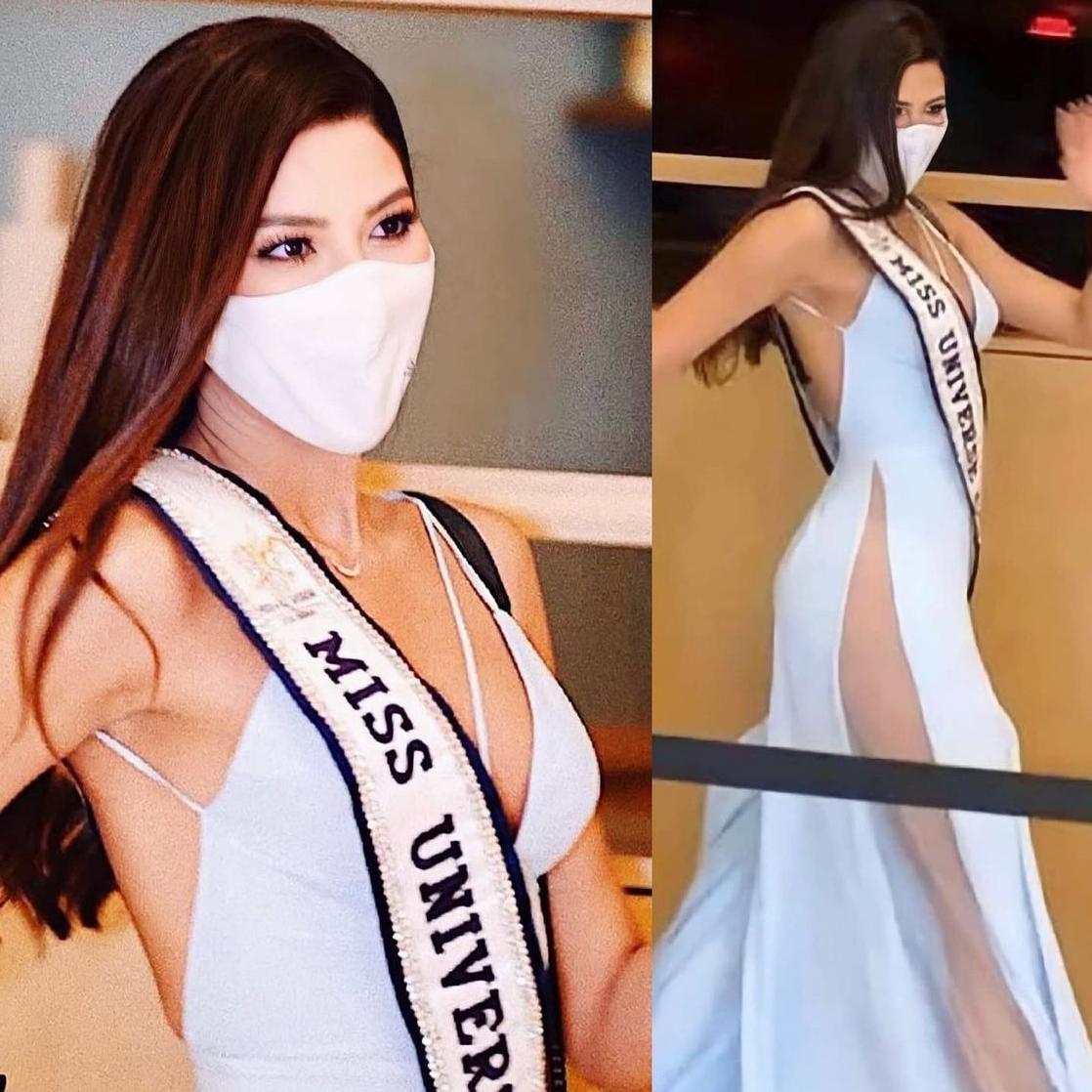 Nhiều thí sinh cũng sexy hết cỡ ở những hoạt động đầu tiên. Trong ảnh là hoa hậu Colombia được săn đón bởi khán giả và truyền thông quốc tế.