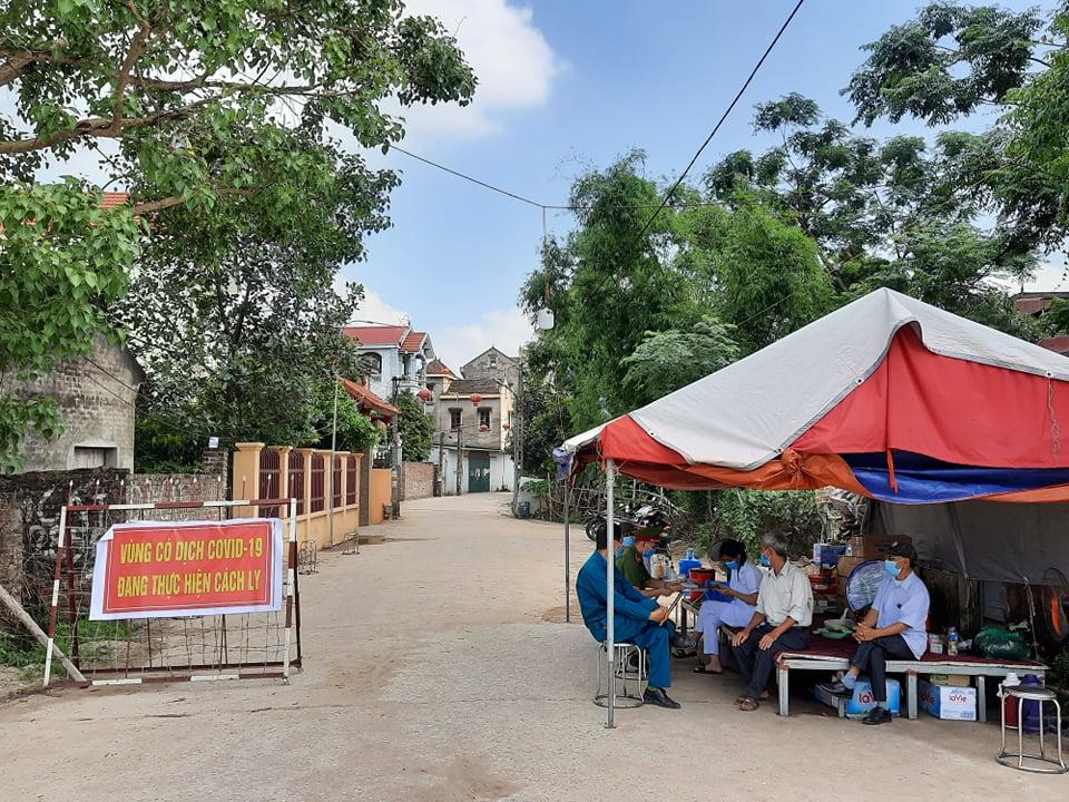 Chốt cách ly y tế xã Mão Điền huyện Thuận Thành.