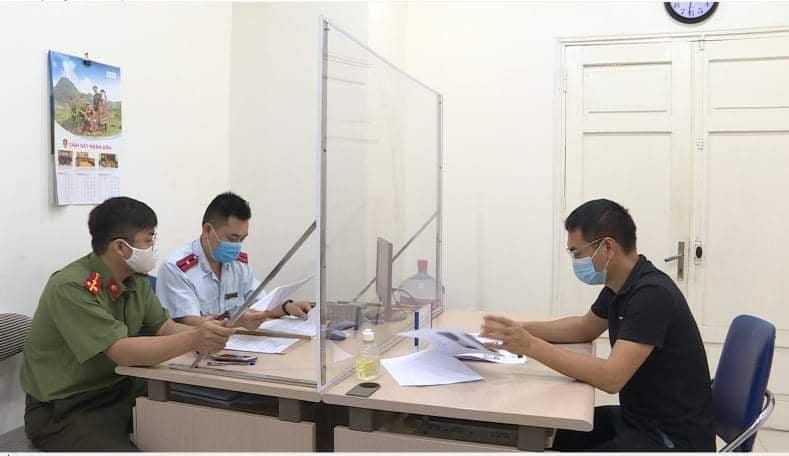 Anh Trần Văn Duy làm việc tại cơ quan công an.