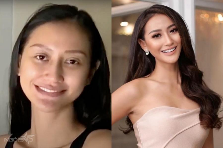Kỹ thuật trang điểm phần nào giúp Hoa hậu Indonesia - Ayu Maulida trông nổi bật hơn hẳn.