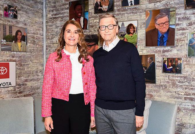 Melinda và Bill Gates là những gương mặt năng nổ hoạt động từ thiện nhất thế giới. Ảnh: CBS.