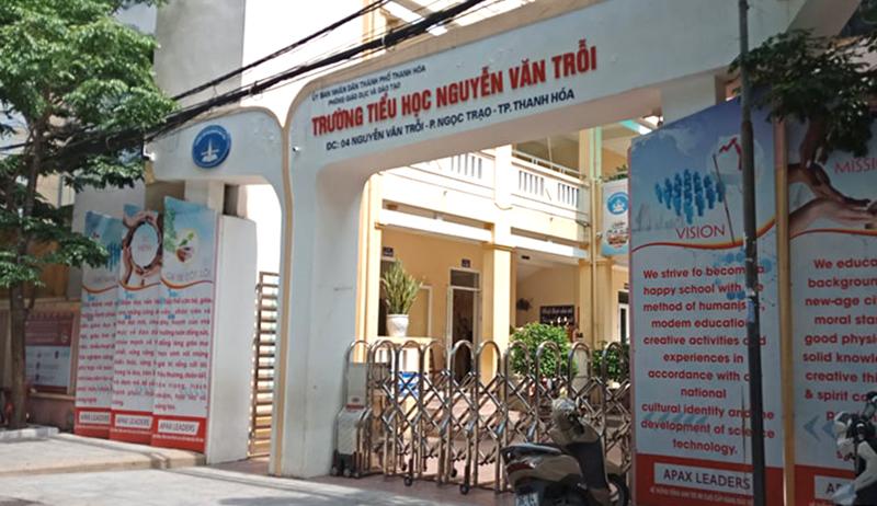 Trường Tiểu học Nguyễn Văn Trỗi, TP Thanh Hoá vừa qua phải nghỉ học do có hai học sinh diện F1.