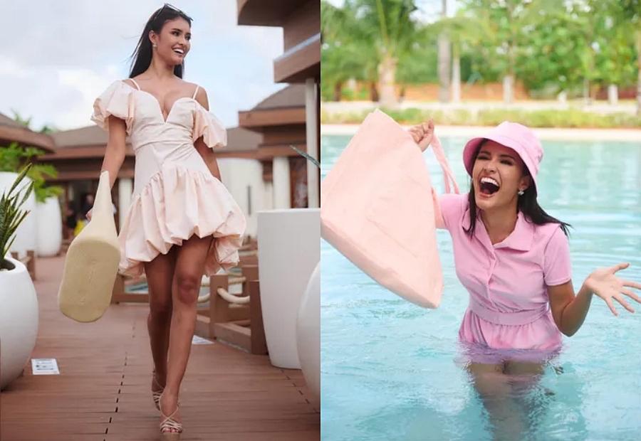 Khánh Vân được chụp ảnh cho nhà tài trợ cùng đương kim Miss Universe - 4