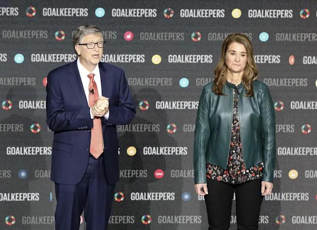 Bill và Melinda Gates trong sự kiện Goalkeepers tại Trung Tâm Lincoln tại New York năm 2018. Ảnh: AFP.