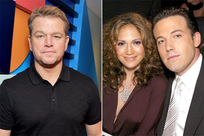 Matt Damon ủng hộ cậu bạn thân Ben Affleck tái hợp với Jennifer Lopez.