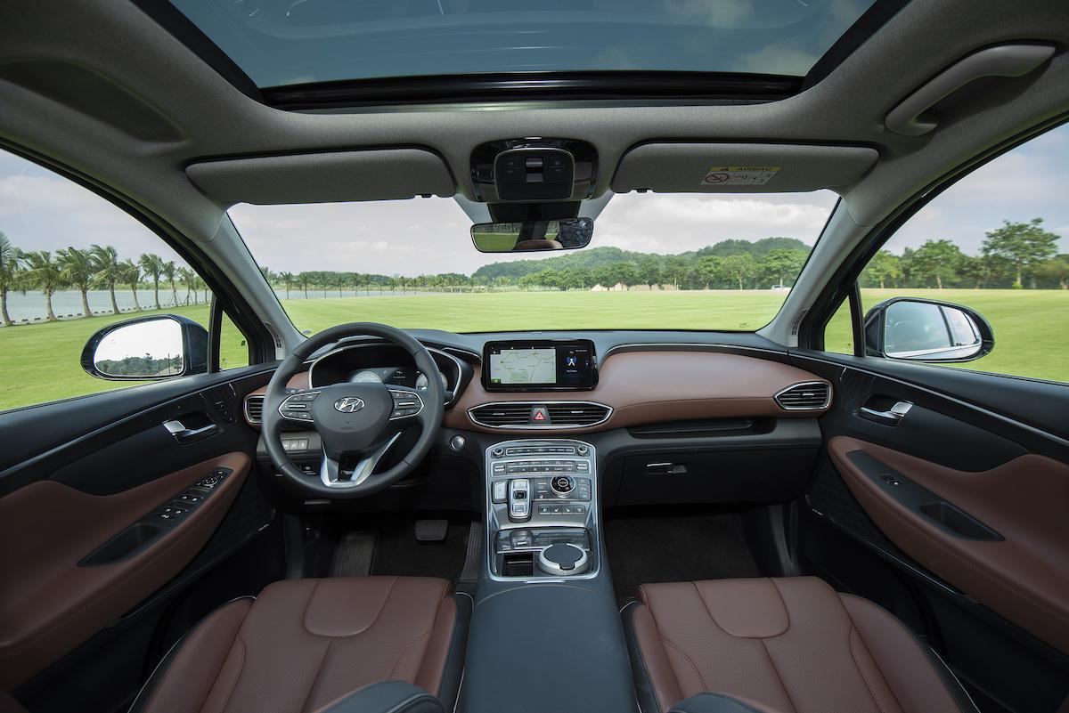 Nội thất Hyundai Santa Fe 2021.