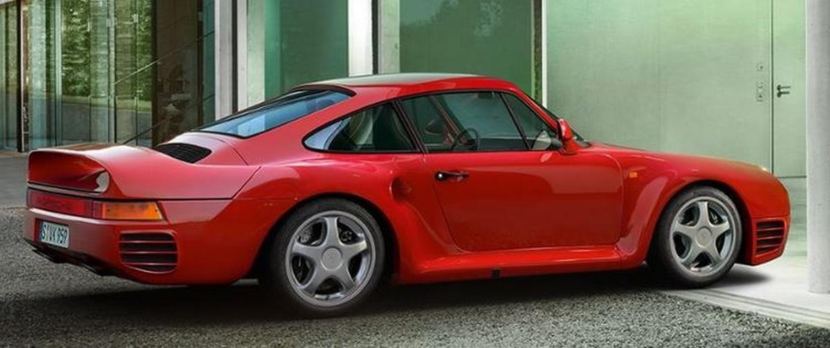 Porsche 959 với số lượng sản xuất 337 xe.
