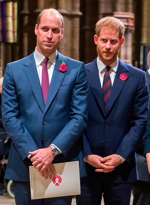 Hoàng tử William và Hoàng tử Harry cùng dự sự kiện vào năm 2018. Ảnh: UK Press.