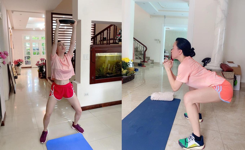 Ngay từ khi phòng gym vẫn được hoạt động, Phượng Chanel đã có thói quen tập luyện tại nhà, hạn chế để cơ thể lười biếng, trì trệ.