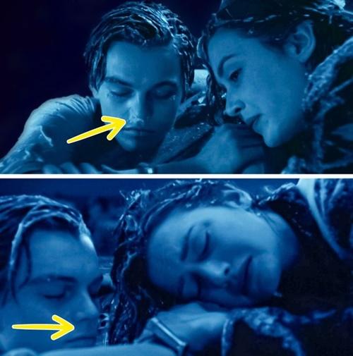Lúc Jack ngâm mình dưới nước biển để nhường tấm ván cho Rose, mũi anh bị đóng băng vì lạnh. Nhưng sau đó, lớp băng này tự động biến mất.