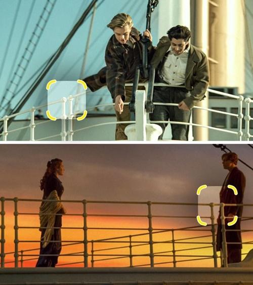 Thành tàu thay đổi kiểu dáng liên tục, các thanh chắn lúc thì rời nhau, khi lại dính vào.