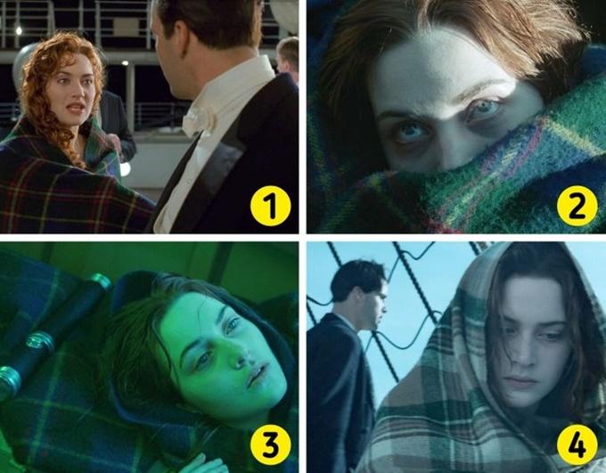 Chiếc chăn xuất hiện nhiều lần cùng Rose trong phim thay đổi họa tiết và màu sắc ở đoạn kết.