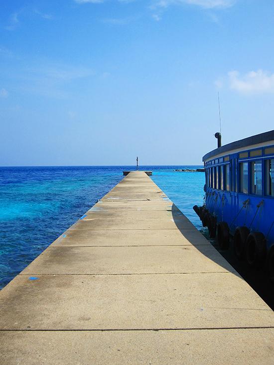 Bến tàu ở Maafushi