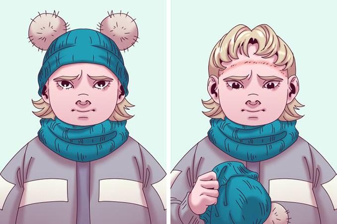 Mũ quá chậtKhi mua mũ cho con, các bậc cha mẹ nên chọn kích thước vừa vặn, bởi mũ rộng có thể tuột xuống và che khuất tầm nhìn, trong khi mũ quá chật lại gây đau và khó chịu. Ngoài ra, nên ưu tiên chất liệu tự nhiên, thoáng khí. Một chiếc mũ chật làm từ chất liệu tổng hợp sẽ khiến đầu trẻ đổ mồ hôi, dẫn đến ngứa và kích ứng.