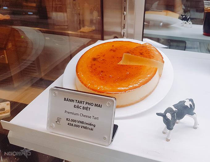 Bánh tart phô mai đặc biệt có giá 458.000 đồng cả chiếc.