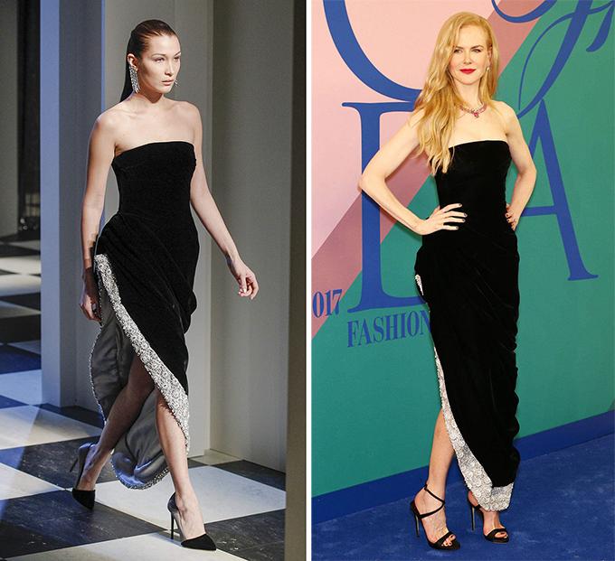 Oscar de la Renta, Nicole Kidman stylist của Nicole đã khâu bớt