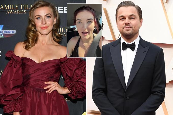 Cháu gái (ảnh nhỏ) tiết lộ chuyện tình của Julianne Hough và Leonardo DiCaprio.