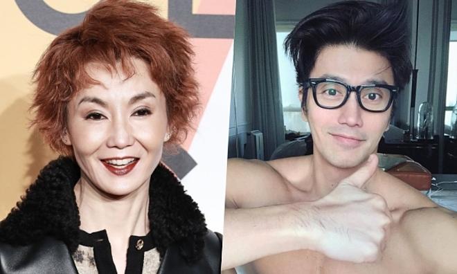 Ảnh trái: Ngọc nữ màn ảnh Hong Kong một thời Trương Mạn Ngọc ở tuổi 55.