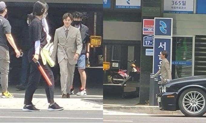 Park Eun Sook (vai Logan Lee) xuất hiện trên phim trường Penthouse 3)