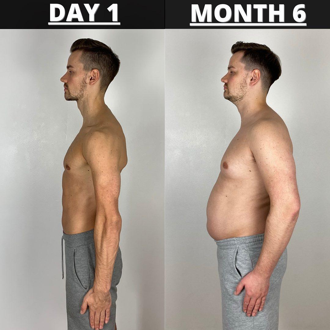 Andrew thú nhận bị shock trước sự thay đổi của bản thân sau 6 tháng ăn uống vô độ, không tập luyện.