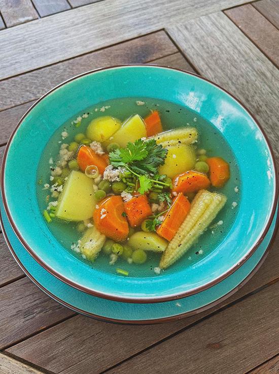 [Caption] súp rau củ tăng cường miễn dịch cho cả nhà