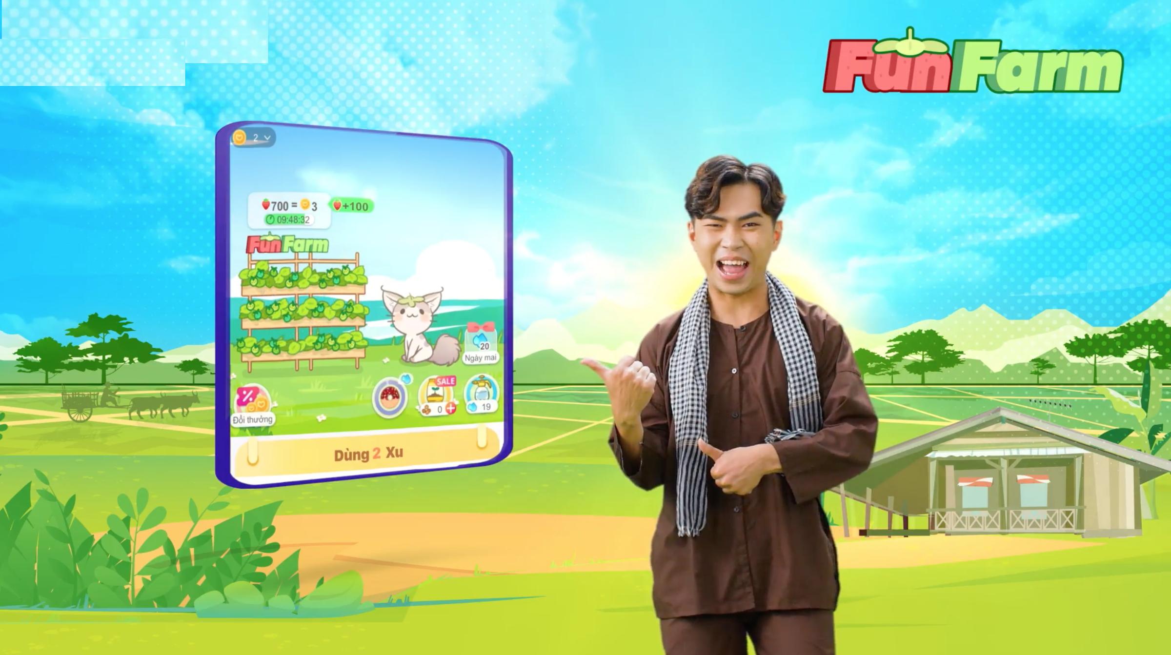 Minigame FunFarm Khu vườn vui vẻ trong mục LazGame của ứng dụng Lazada cũng là khu vực giải trí mà Minh Dự thường tham gia để nhận xu, giảm giá trực tiếp vào đơn hàng.