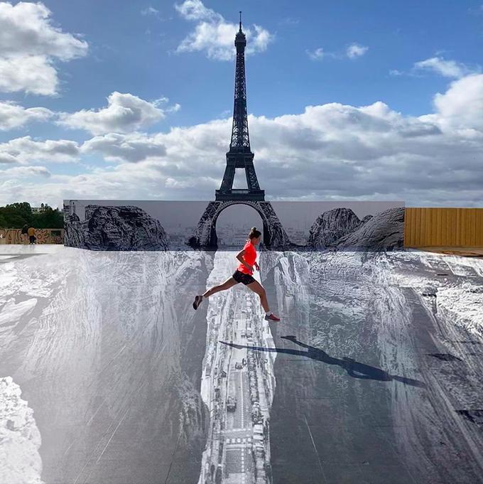 Dân Paris đổ xô check in tháp Eiffel dưới vực thẳm - 6