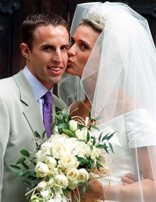 HLV Gareth Southgate và bà xã Alison trong ngày cưới năm 1997. Ảnh: PA.