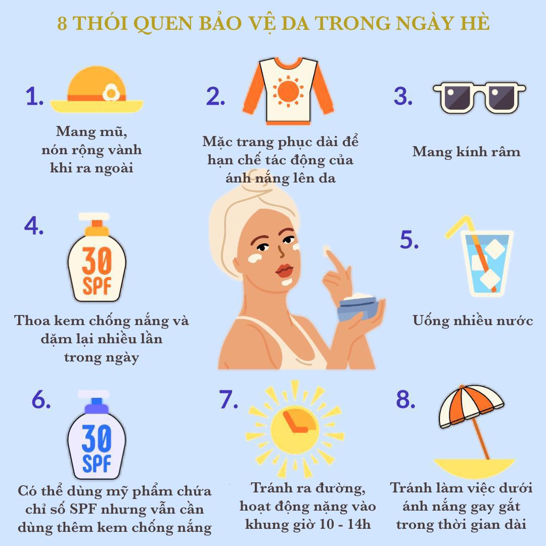 8 điều cần khắc cốt ghi tâm trong ngày hè