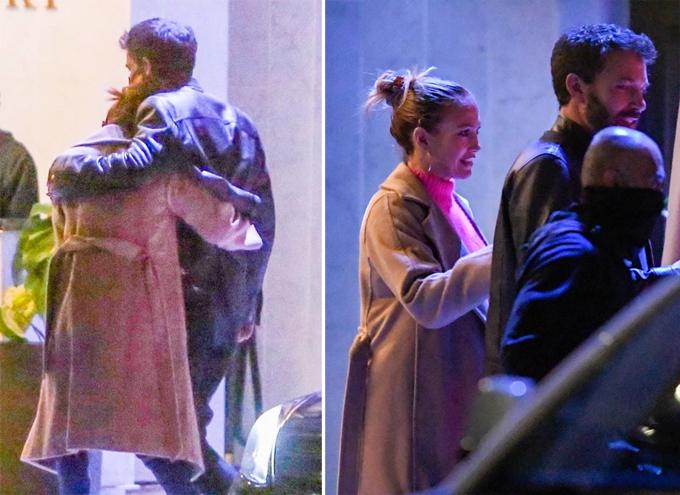 Ben ôm Jennifer tại khách sạn Pendry tối thứ hai.