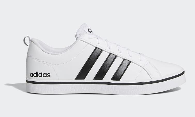 Giày thể thao nam Adidas VS Pace AW4594 có phần thân trên được làm từ lớp da trắng PU Faux trơn nhẵn, phần midsole đế giày sử dụng đệm EVA và lớp cao su bên ngoài êm, dày, chống mài mòn, chống trơn trượt. Sản phẩm có các size 40, 41, 42, 43, 44. Giá gốc 1,65 triệu đồng, ngày 6/6 ưu đãi 28% còn 1,19 triệu đồng.
